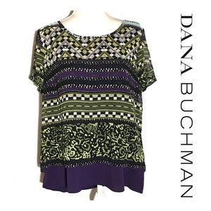 Dana Buchman Patterned Layered Top